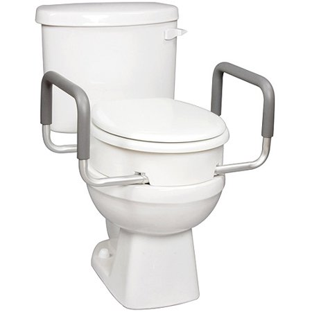 Carex Raised Toilet Seat With Handles For Standard
