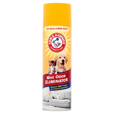 Arm & Hammer Max Odor Eliminator, Vacuum Free Foam for Carpet & Upholstery, 15 (Pet Stain And Odor Remover Arm And Hammer)