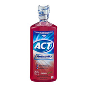 (2 pack) ACT Cinnamon Anticavity Fluoride Mouthwash, 18 oz