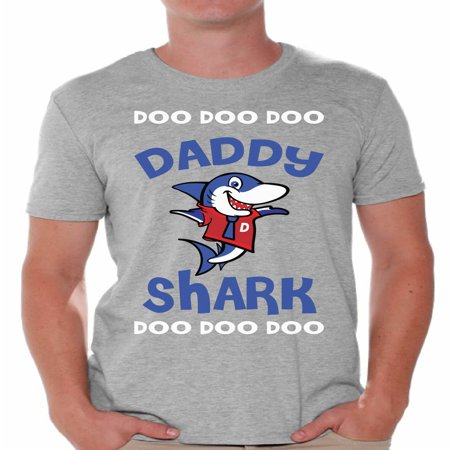Awkward Styles Daddy Shirt Family Daddy Shark Tshirt for Men Shark Family T Shirt Matching Shark Shirts for Family Shark Gifts for Dad Shark Themed Party Outfit for Dad Shark Dad T-Shirt - Father Christmas Outfits For Mens