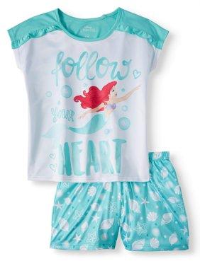 Girls' Ariel 2 Piece Pajama Sleep Set (Little Girl & Big Girl)