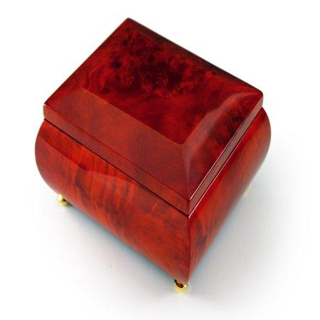 Gorgeous Wood Tone Classic Beveled Top Music Jewelry Box - 12 Days of Christmas - SWISS