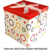 Gift Box 12x12x12 Garnier Pop Up In Seconds Comes With Decorative Ribbon Mounted On The Lid