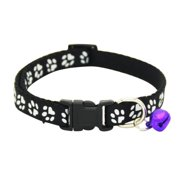 8f10120ed Small Pet Dog Cat Adjustable Paw Printed Collar Puppy Safety Necklace With  Bell