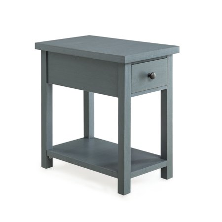Better Homes and Gardens Oxford Square End Table With Drawer, Available in Blue or