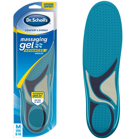 - Dr. Scholl's MASSAGING GEL Advanced Insoles, 1 Pair (Men's 8-14)