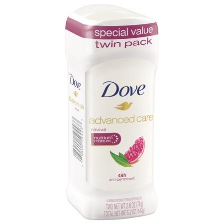 - Dove Revive Antiperspirant Deodorant, 2.6 oz, Twin Pack