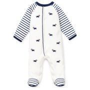 38293055d2 Little Me Dachshund Dog Snap Front Footie Pajamas For Baby Boys Sleep N  Play One Piece