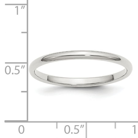 925 Sterling Silver 2mm Half Round Size 4 Band Ring - image 1 of 2