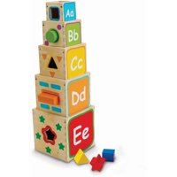 Spark. Create. Imagine. Wooden Stacking Blocks