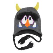 89d4ca009df Aquarius Boys Gray Monster Peruvian Style Critter Hat Trapper With Green  Horns