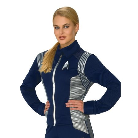 Halloween Costume Accesssory Star Trek Discovery Womens Silver Science Uniform](Science Center Halloween Tickets)