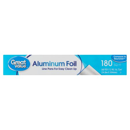 - Great Value 180 sq ft Aluminum Foil