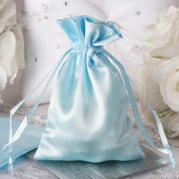 "Efavormart 12PCS Satin Gift Bag Drawstring Pouch for Wedding Party Favor Jewelry Candy Solid Satin Bags - 4""x 6"""