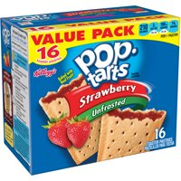 Kellogg's Pop-Tarts, Unfrosted Strawberry Flavored, 29.3 oz 16 Ct