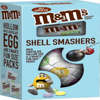 (2 pack) M&M'S Shell Smashers Easter Chocolate Candy, 4.75-Ounce Box