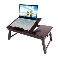 Ktaxon Wood Folding Lap Desk Tray Table Drawer with Hollow Double Flower Dissipate Heat