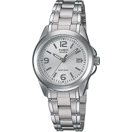 Women's Silver Dial Watch, Stainless-Steel (Pewter Bracelet Watch)