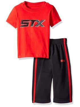 Active Performance Short Sleeve Tee and Fleece Pant, 2-Piece Set (Big Boys)