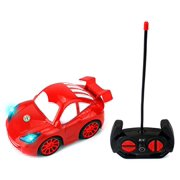 Smiling Race Coupe Remote Control RC Sports Car Ready To Run w/ LED Headlights