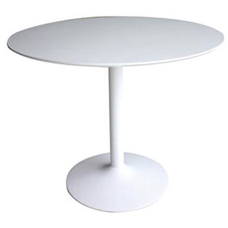 Coaster Company Lowry Mid Century Modern Round Dining Table White