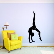 732ecf765 Custom Wall Decal Gymnastics Girl Flipping Tumbling Silhouette Picture Art  Vinyl Wall Decal Sticker 10x20 Inches