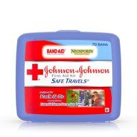 Johnson & Johnson Safe Travels First Aid Kit, 70 pc