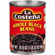 La Costena Whole Black Beans, 19.75 oz