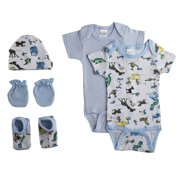 5bac9b6a8f46 Newborn Baby Boys 5 Pc Layette Baby Shower Gift Set