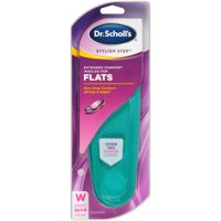 Dr. Scholl's Stylish Step Extended Comfort Insoles for Flats, 1 Pair, Size 6-10