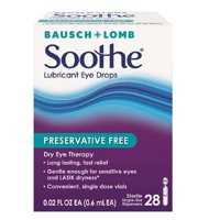 Bausch & Lomb Soothe Lubricant Eye Drops Single-Use Dispensers 28 Each