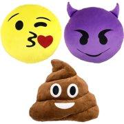 Emoji Expressions 3-Piece Emoji Pillow Set 51d2a9530