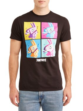 """Fortnite Men's """"Llama Grid"""" Short Sleeve Graphic T-Shirt, up to Size 3XL"""
