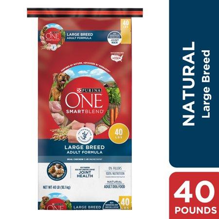 - Purina ONE Natural Large Breed Dry Dog Food, SmartBlend Large Breed Adult Formula - 40 lb. Bag