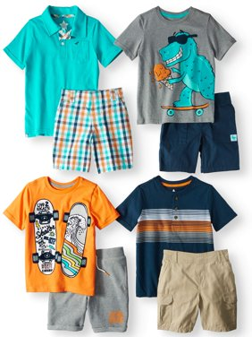 Kid-Pack Mix & Match Gift Box, 8-Piece Outfit (Little Boys & Big Boys)