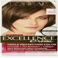 L'Oreal Paris Excellence Creme Triple Protection Hair Color, 5 Natural Medium Brown 1 ea