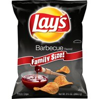 Lay's Family Size Barbecue Flavored Potato Chips, 9.5 Oz.