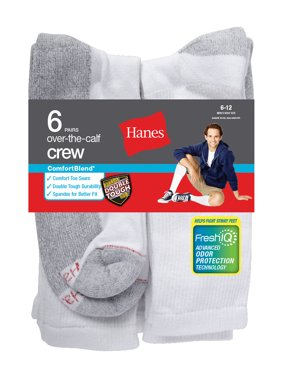 Men's ComfortBlend Over the Calf Crew Socks 6-Pack