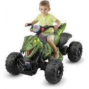 Power Wheels Jurassic World Dino Racer, Green Ride-On ATV for Kids