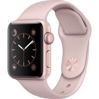 Refurbished Watch Series 2 38mm Apple Rose Gold Aluminum Case Pink Sand Sport Band MNNY2LL/A