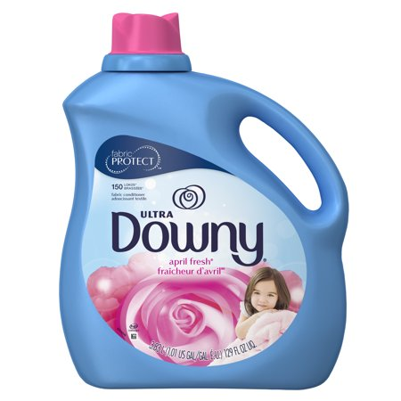 Downy Ultra Liquid Fabric Conditioner (Fabric Softener), April Fresh, 150 Loads 129 fl oz Downy Fabric Softener Ball