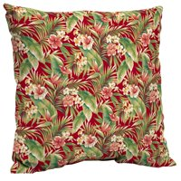 Mainstays Red Tropical Outdoor Patio Dining Seat Pillow Back Cushion