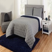 Better Homes & Gardens Grey Reversible Triangle Jersey Quilt Set