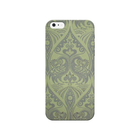 4 Vintage Green (Green Vintage Peacock Print Phone Case For Iphone 4 / 4s by iCandy)