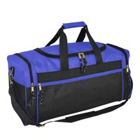 "DALIX 21"" Blank Sports Duffle Bag Gym Bag Travel Duffel with Adjustable Strap in Royal Blue"