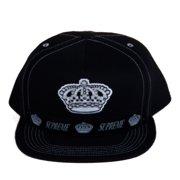 b87af9899b000 Supreme Overlap 5-Panel Snapback Hat Black FW14H67
