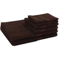 Mainstays Basic Cotton Bath Towel Set - 6 Piece Set