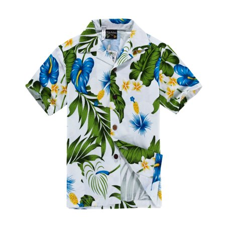Hawaii Hangover Men's Hawaiian Shirt Aloha Shirt White with Blue Calla Lily M](Hawaiian Themed Clothes)