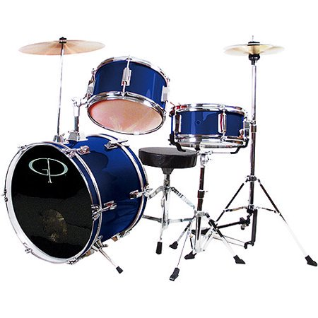 GP50BL GP Percussion 3 Piece Junior Drum Set (Blue)