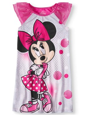 Girls' Minnie Mouse Pajama Nightgown